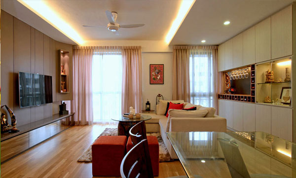 best living room interior designer in kolkata